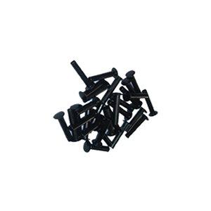 Rivets tubulaires en acier noir / Black tubular steel rivets