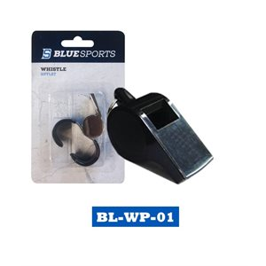 Sifflet Blue Sports en plastique avec cordon / Blue Sports plastic whistle Grand / Large